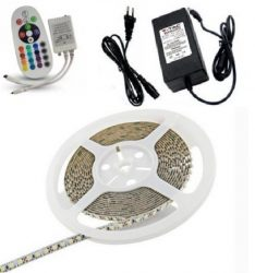 RGB LED szalag szett 5 méter, 5050 SMD, 60 LED/m