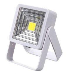 Napelemes, USB-ről is tölthető COB LED lámpa