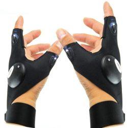 A mutató és hüvelykujjnál világító kesztyű